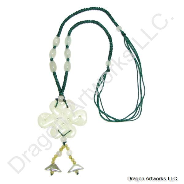 Carved Jade Knot Necklace of Ancient Style
