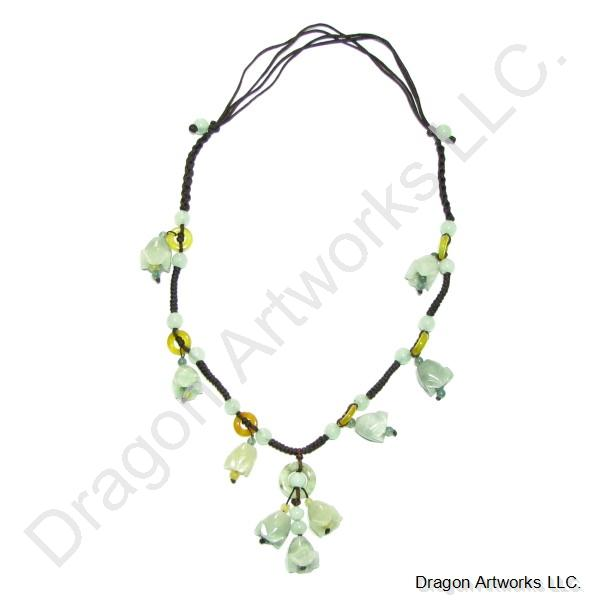 Love Talisman Carved Jade Necklace