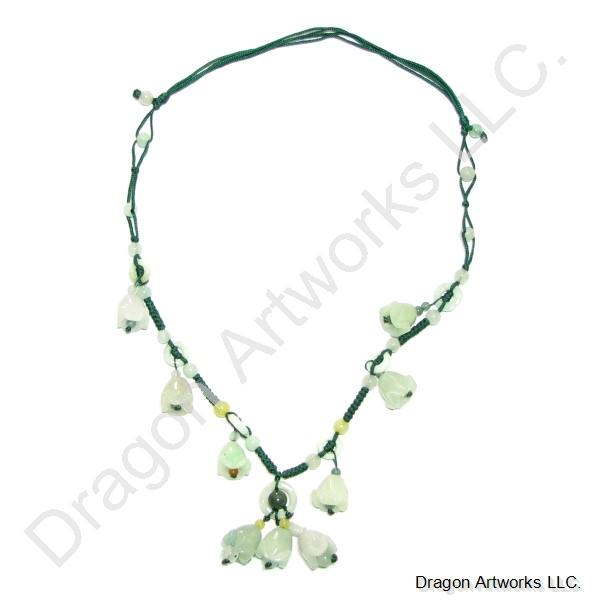 Peace of Mind Carved Jade Necklace