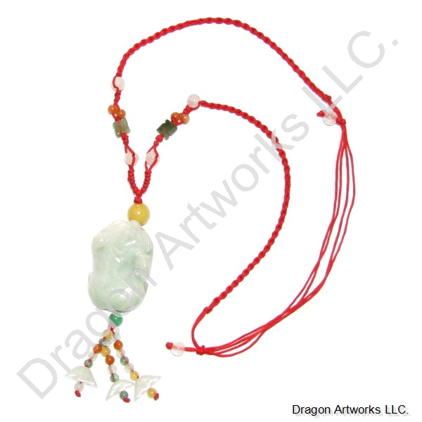 Chinese carved jade money pig pendant necklace mozeypictures Gallery