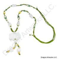 Chinese Carved Jade Pig Necklace