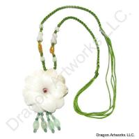 White Jade Flower Necklace of Health