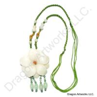 Chinese White Jade Flower Necklace of Purity