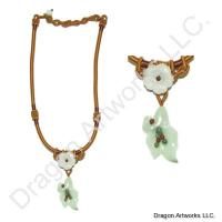 Eye-Catching Carved Jade Flower Necklace