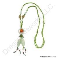 Appealing Chinese Carved Jade Necklace
