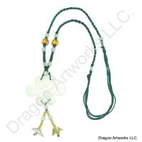 Elegant Chinese Carved Jade Knot Necklace