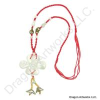 Chinese Carved Jade Knot Necklace of Fengshui