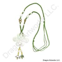 Gorgeous Chinese Carved Jade Knot Necklace