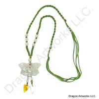 Artistic Design Carved Jade Necklace