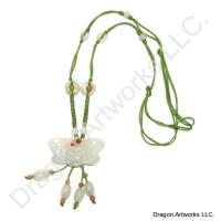 Lovable Chinese Carved Jade Necklace